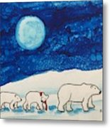 Christmas Bears Metal Print