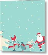 Christmas Dancing Metal Print