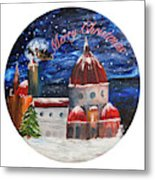 Christmas Greeting In Florence  Metal Print
