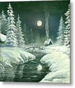 Christmas Night In The Country Metal Print