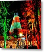 Christmas Red And Green Metal Print