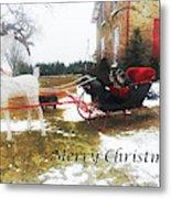 Christmas Sleigh Metal Print