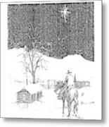 Christmas Star Metal Print