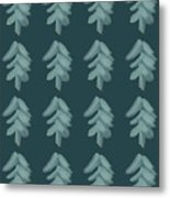 Christmas Tree Pattern Metal Print