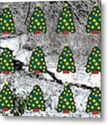 Christmas Trees Metal Print