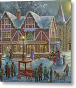 Christmas Village Panoramic Metal Print