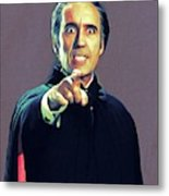 Christopher Lee As Dracula Metal Print