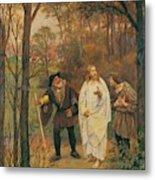 Christus Und Die J Nger Von Emmaus 1914 Metal Print
