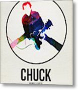 Chuck Berry Watercolor Metal Print