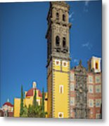 Church Of San Francisco In Puebla Metal Print