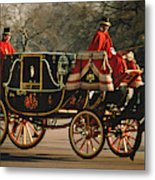 Churchill Arrives At Buckingham Palace Metal Print