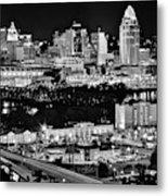 Cincinnati Covington And Ohio River Metal Print