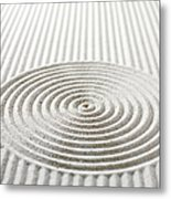 Circles And Lines In Sand Metal Print