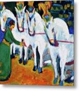 Circus Horses Dressage Metal Print