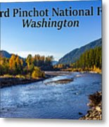 Cispus River In The Gifford Pinchot National Forest, Washington State Metal Print