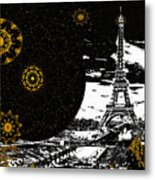 City Of Lights - Kaleidoscope Moon For Children Gone Too Soon Number 6  Metal Print