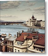 Cityscape Of Budapest Metal Print