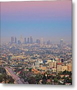Cityscape Of Los Angeles Metal Print