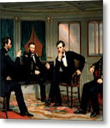 Civil War Union Leaders - The Peacemakers - George P.A. Healy Metal Print