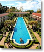 Classic Awesome J Paul Getty Architectural View Villa  Metal Print