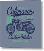 Classic Caferacer Road Legend Metal Print