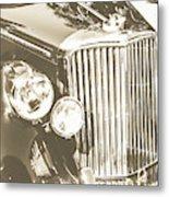 Classic Car Chrome Metal Print