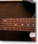 Classic Electric Guitar And Amp Still Metal Print