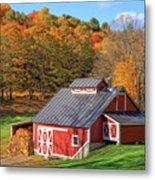 Classic Vermont Maple Sugar Shack Square Metal Print