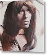 Claudia Lennear.brown Sugar.lady Grinning Soul Metal Print