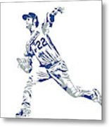 Clayton Kershaw Los Angeles Dodgers Pixel Art 30 Metal Print