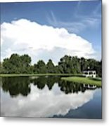 Clear Reflection Metal Print