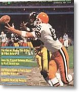 Cleveland Browns Dave Logan And Pittsburgh Steelers Mel Sports Illustrated Cover Metal Print