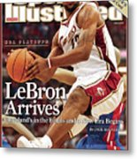 Cleveland Cavaliers LeBron James, 2007 Nba Eastern Sports Illustrated Cover Metal Print