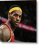 Cleveland Cavaliers V Boston Celtics Metal Print