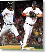 Cleveland Indians V Boston Red Sox Metal Print