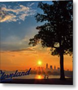 Cleveland Sign Sunrise Metal Print
