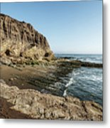 Cliff In The Ocean Metal Print