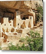 Cliff Palace In Mesa Verde, Colorado Metal Print