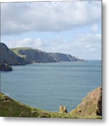 cliffs and coast at St. Abbs Head, Berwickshire Metal Print