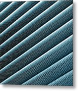 Close-up Abstract Of Lined Pattern Metal Print
