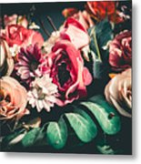 Close Up Colorful Bunch Of Beautiful Metal Print
