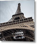 Close Up View Of The Eiffel Tower From Underneath  Metal Print