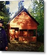 Closing The Cabin For Winter Metal Print