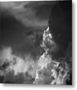 Clouds 6 In Black And White Metal Print