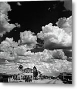 Clouds Over Seligman Metal Print