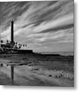 Clouds Over The Chipiona Faro Metal Print
