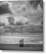Cloudy Morning Rough Waves Metal Print