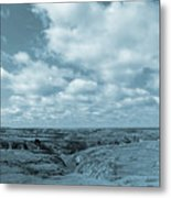 Cloudy Prairie Reverie Metal Print