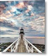 Cloudy Skies At Marshall Point Metal Print