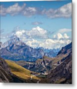 Cloudy Sky Over Grey Mountains Of Metal Print